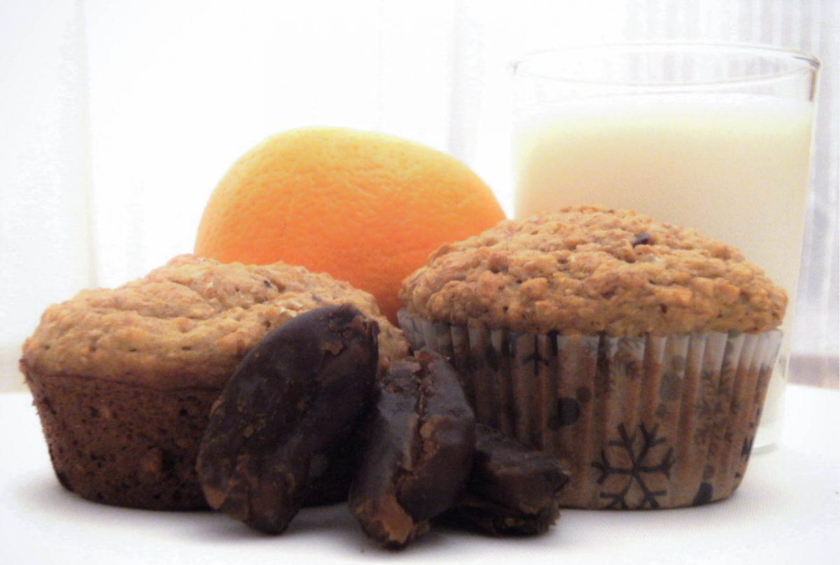 Muffins orange et dattes